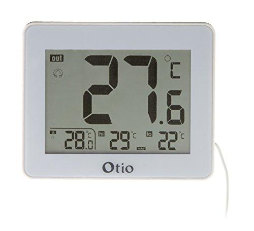 Otio - Thermomètre intérieur / Extérieur filaire Blanc