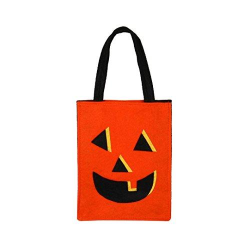 OVERMAL Halloween Candy Bag Halloween Schläger Beutel Teufel Beutel Kind Süßigkeit Handtaschen Eimer Kinder (Candy Eimer Halloween)