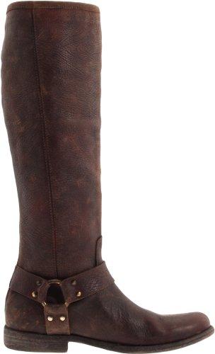 Frye Phillip Harness Tall Rund Leder Mode-Knie hoch Stiefel Black