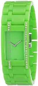 Esprit - ES103562004 - Montre Femme - Quartz Analogique - Cadran Vert - Bracelet Plastique Vert