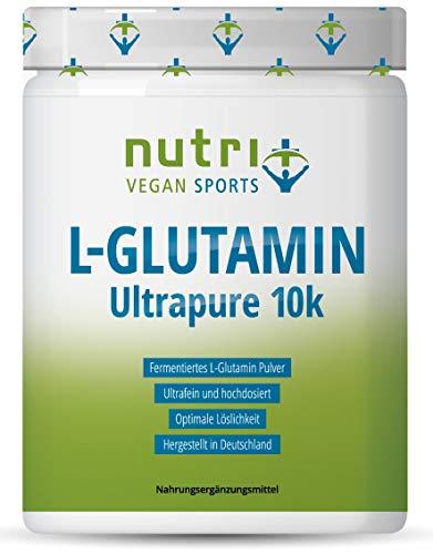 L-GLUTAMIN PULVER 500g Ultrapure - 99,95% rein - geschmacksneutral ohne Zusatzstoffe - hergestellt in Deutschland - Fitness & Bodybuilding - Vegan Glutamine Powder Made in Germany