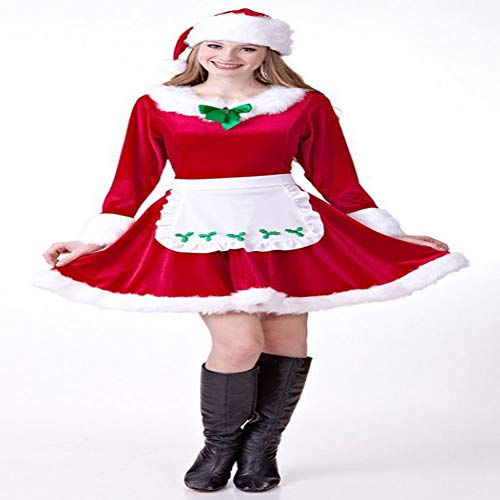CVCCV Weihnachten Frohe Weihnachten Japanisch und Koreanisch süße Mädchen Kostüm New Year Party Performance Uniformen Polyester Stoff Geeignet für Frauen - Koreanisches Kostüm Frauen