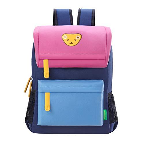 XHHWZB Verschiedene Größe Kinder Rucksack für Kleinkind Kindergarten Schule mit Brust Clip Wandern Tasche 3-7 Jahre Alt (Farbe : E, größe : Small) - Brust 6 Jahren