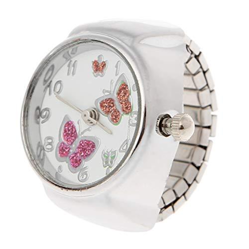 WEISHAZI - Reloj analógico cuarzo mujer anillo dedo