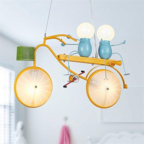 Persönlichkeit Fahrrad Kind Kronleuchter Schlafzimmer Jungen-Mädchen-Kinderzimmer-Licht moderne einfache Cartoon Kreative