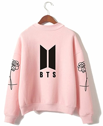 SERAPHY Unisex BTS Kapuzenpullover Bangtan Boys Love Yourself BTS Rollkragen Sweatshirts für Armee Suga Jimin Jin Jung Jook J-Hope Rap-Monster V Rosa S (Pullover Bts)