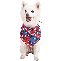 Blueberry Pet National Pride fabriqués à la Perfection 'Amour' Bandana de Chien Design, 80cm * 30cm