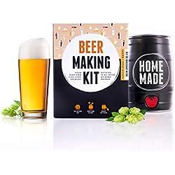 Brewbarrel Kit de Brassage Bière Blonde - Fabrication de la Bière Faites Votre Bière en FUT 5L - Cadeau Homme
