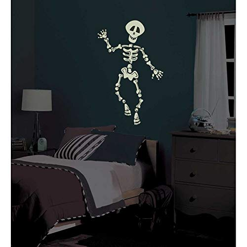 Wandtattoo Wohnzimmer Wandtattoo Schlafzimmer Halloween-Aufkleber-Schädel-Auto-Abziehbild-Plakate Pegatina Quadro-Dekor für Spielzimmer