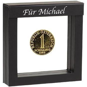 1 Schilling Vergoldete Münze 1977 In Präsentations Etui Mit Ihrer