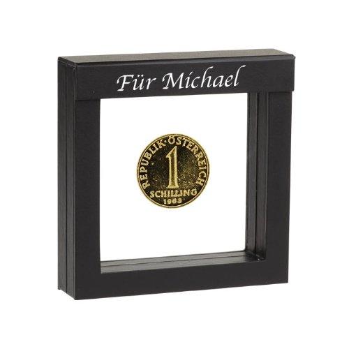 1 Schilling vergoldete Münze 1978 in Präsentations-Etui mit Ihrer individuellen Namens-Gravur (1978 Münze)