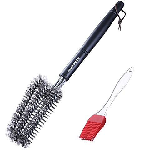 MANLEHOM 18 pouces /45.7cm barbecue brosse grill nettoyant - 3