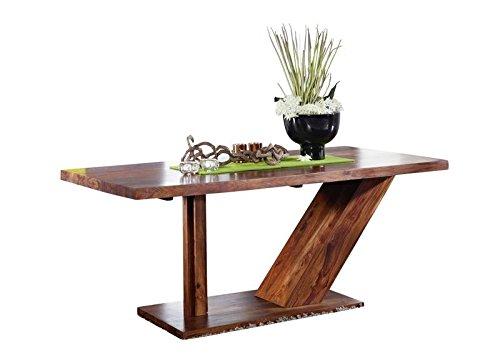 Sheesham Bois massif massif Meuble verni Table guéridon 240x100 Palissandre meuble massif bois noyer Duke #135