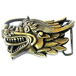 Hebilla Cabeza de Dragón, 3D, Fantasy, China - Hebilla