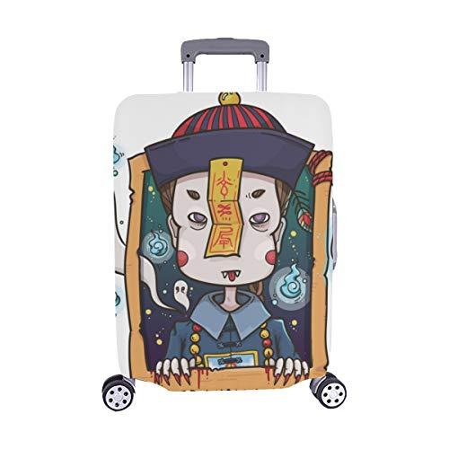 Niedlichen Cartoon Zombies Muster Spandex Staubschutz Trolley Protector case Reisegepäck Beschützer Koffer Abdeckung 28,5 X 20,5 ()