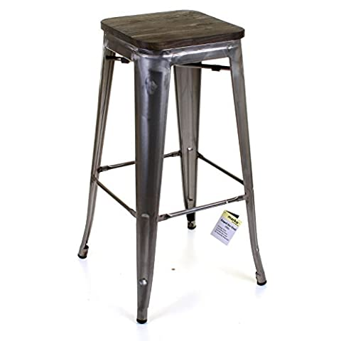 Marko Furniture Empoli Metal Breakfast Bar Stool Seat Chair Industrial