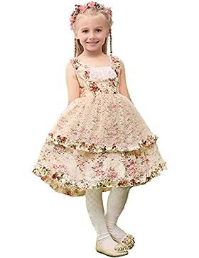 EnjoyBridal® Räumungsverkauf 40% Rabatt Kurz Spitze Mädchen Kleid Festkleid Hochzeit Blumenmädchen Kleid Kommunionskleid