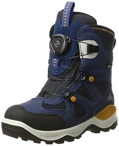 Ecco Jungen Snow Mountain Hohe Sneaker, Blau (Black/Poseidon/Marine-Poseidon), 31 EU