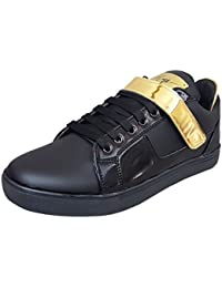 West Code Shoes for Men Synthetic Leather Casual Sneakers and Shoes 8002-G-Black
