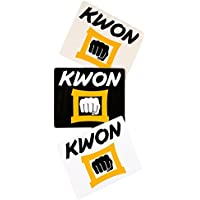 Kwon Aufkleber transparent - weiß - schwarz 30st.