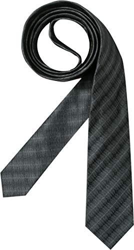 Hugo Boss Herren Krawatte Herren-Accessoire College-Streifen, Größe: Onesize, Farbe: Grau