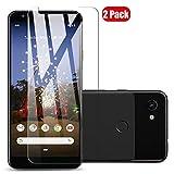 Voviqi Google Pixel 3a XL Panzerglas, 9H verbesserte gehärtetes Glas Folie [Blasenfrei] [Anti-Fingerabdruck] Bildschirmschutzfolie für Google Pixel 3a XL, 2 Stück