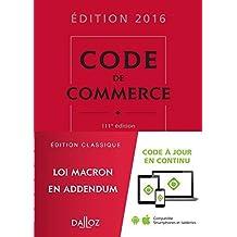 Code de commerce 2016 by Nicolas Rontchevsky (2015-08-26)