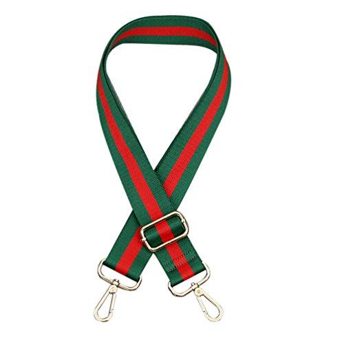 KELAND Réglable 78cm-140cm Anse De Sac À Main Bandoulière Lanière Bretelle Sangle De Remplacement Shoulder Bag Bricolage Accessoires (Vert et Rouge)
