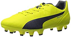 PUMA Womens Evospeed 4.4 Firm Ground WNs Soccer Cleat Sulphur Spring/Total Eclipse/Electric Blue Lemonade 6 B(M) US