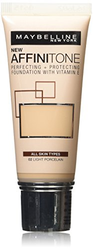 Maybelline Affinitone, Fondotinta, Light Porcelain 02, 30 ml