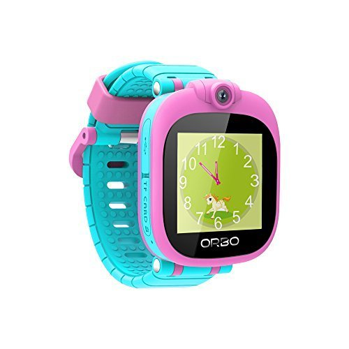 Orbo Kids Smartwatch with Rotating Camera, Bluetooth Phone Pairing, Games, Timer, Alarm Clock, Pedometer & Much More - Pink by Orbo