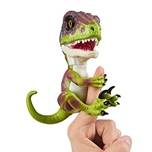 Untamed Raptor by Fingerlings - Stealth (Green) - Interactive Collectible Baby Dinosaur - By WowWee