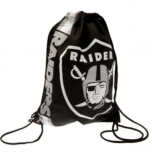 Forever Collectibles Gymback CROPPED LOGO DRAWSTING BACKPACK OAKLAND RAIDERS Schwarz