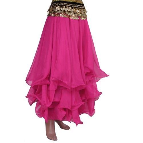 Belly Dance Skirt Chiffon Full Circle Dress Costume Clothes
