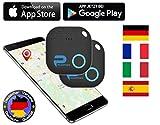 Phantiax 2X Schlüsselfinder Check Schwarz | Keyfinder mit Bluetooth App, GPS Ortung und Bewegungsmelder zum Finden von Schlüsseln oder Handy/Smartphone