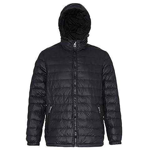 Men's Padded jacket Warm and versatile Water Wind resistant 2786 (Medium, Black/ Black)