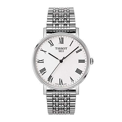 Tissot Herren Analog Quarz Everytime Medium Armbanduhr mit Edelstahl Armband T1094101103300