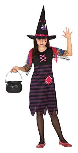 Atosa 26361 - bruja, chica, tamaño 128, negro / púrpura