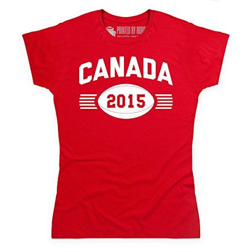 Canada Supporter T-Shirt, Damen Rot