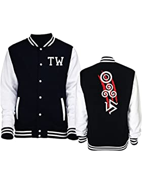 Giacca Varsity College taglia Unisex Teen Wolf Tribali Loghi - Serie Tv - iMage - XL-NERA