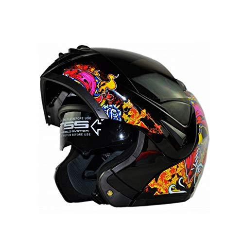 Uomo Donna Antivento Caschi Moto Doppia Lente Antifogging Caschi Moto Inverno Caldo Motocross Caschi Moto Casco Multicolor Opzio