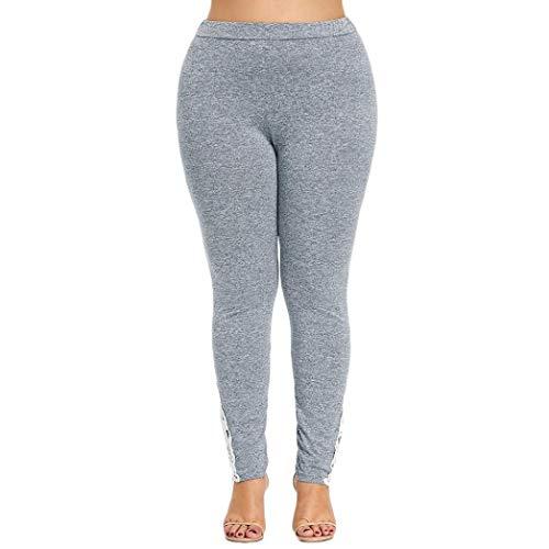 Luckycat Frauen Plus Size Spitzen Applique elastische high Tailliertes Leggings Yoga - Sport - Hose Damenmode 2018