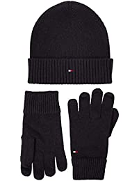 Tommy Hilfiger Pima Cotton Beanie & Gloves GP conjunto bufanda, gorro y guantes para Hombre