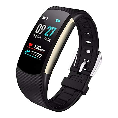 HEATLE Uhr ansehen Gute Qualität Praktisch Smartwatch Sport Fitness-aktivität Herzfrequenz-Tracker Blutdruckkalorien (1PC, Schwarz)