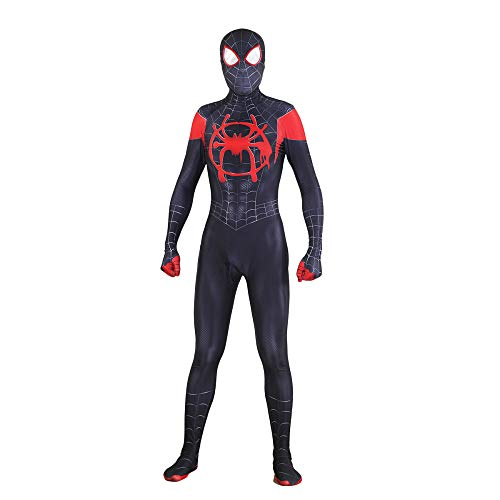 ay Black Spider Erwachsenen Kostüm Halloween Full Body Spandex Overalls Film Show Kostüm Requisiten,Black1-XL ()