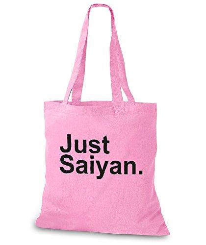 StyloBags Jutebeutel / Tasche Just Saiyan. Rosa