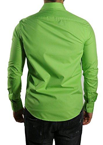 MMUGA -  Camicia classiche  - Maniche lunghe  - Uomo Verde