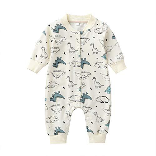 LEXUPE Baby Unisex Langarm Overall Baby Herbst und Winter Outfit Warm Stramper mit Kapuzen Baumwolle Cute Kleidungsset(Beige,73)