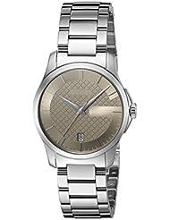 Gucci Damen-Armbanduhr G- Timeless Analog Quarz Edelstahl beschichtet YA126526
