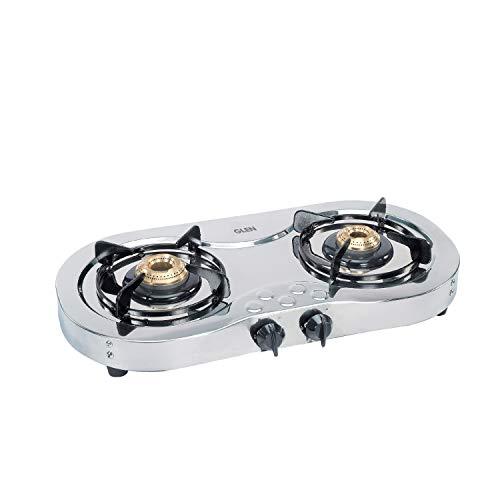Glen 2 Burner Stainless Steel Cooktop 1025 Brass burners